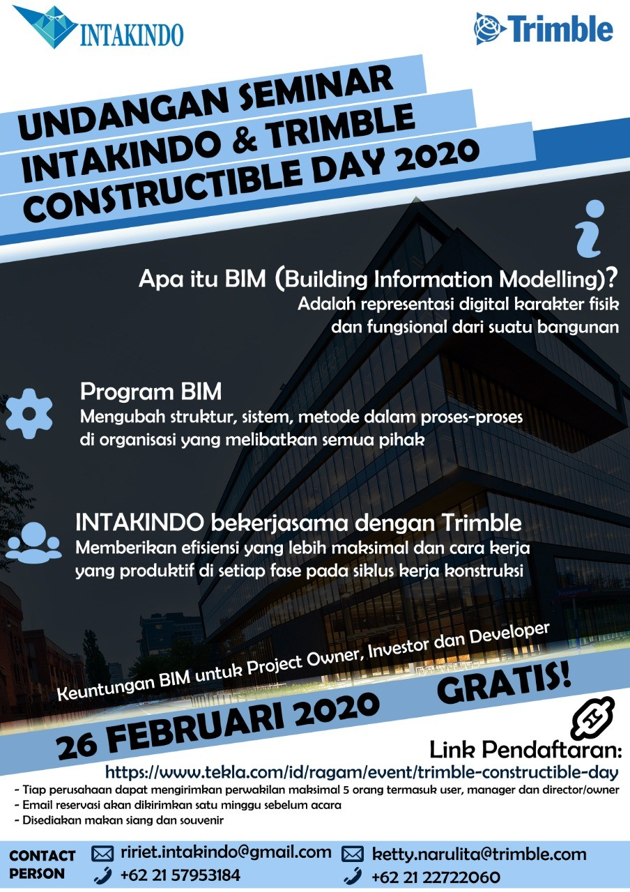 Undangan Seminar Trimble Constructible Day 2020